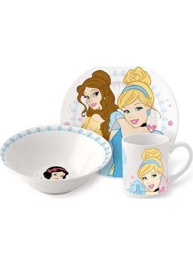 Bayev 3`lü Lisanslı Porselen Çocuk Mama Seti - Princess (Özel Kutusunda) Renkli